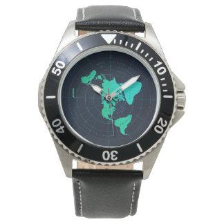 Montre-bracelet plate classique de noir montres bracelet