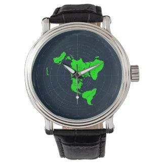 Montre-bracelet plate de disque de carte de la montres
