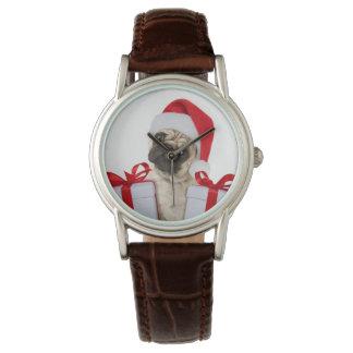 Montre Cadeaux de carlin - chien Claus - carlins drôles -