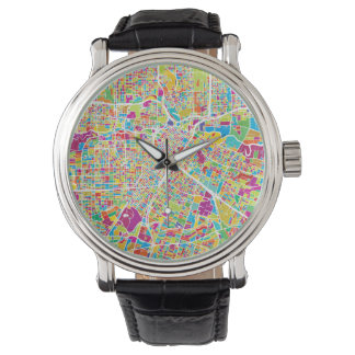 Montre Carte au néon de Houston, le Texas |