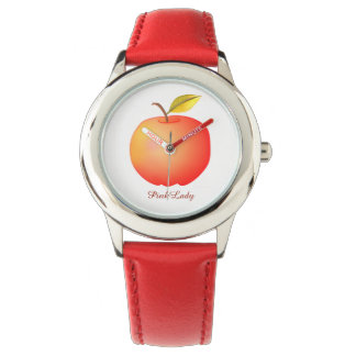 Montre Charme chic simple rouge de Madame rose Apple beau