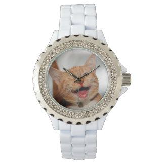 Montre Chat clignant de l'oeil - chat orange - les chats