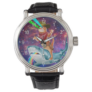 Montre Chat de cowboy - chat orange - requin de chat