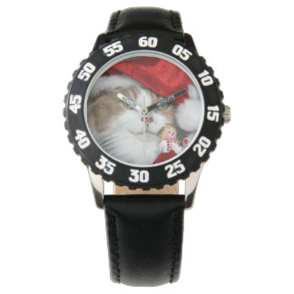 Montre Chat de Père Noël - chat de Noël - chatons mignons
