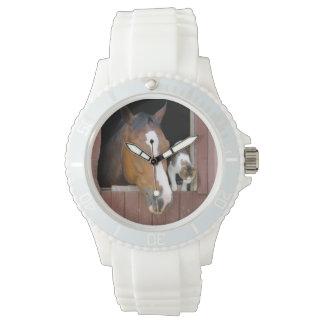Montre Chat et cheval - ranch de cheval - amants de