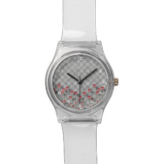 Montre Checkered des coeurs May28th d'amour