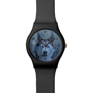 Montre Chien de traîneau bleu de loup