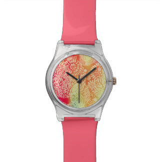 Montre Conception abstraite lumineuse de flower power