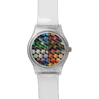 Montre Conception graphique d'hexagone abstrait