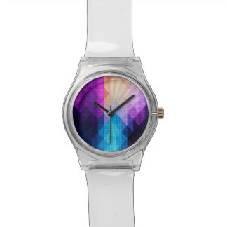 Montre Conception pourpre et bleue de Starburst de
