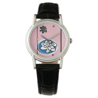 montre contemporaine mignonne de fleur montres bracelet