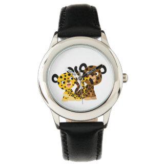 Montre coquette mignonne de jaguars de bande montres bracelet