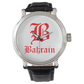 Montre Cuir vintage noir fait sur commande du Bahrain