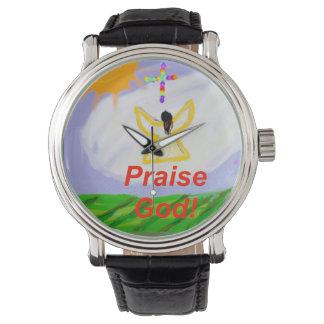 Montre curative d'ange de Dieu d'éloge d'église Montres Bracelet