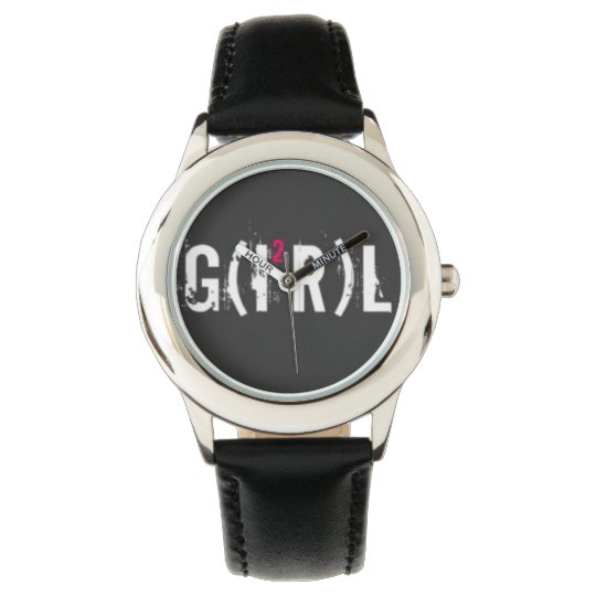 Montre Custom Cuir vintage girl