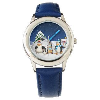 Montre d'amusement de vacances d'hiver de famille montres cadran