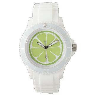 Montre de chaux d'agrume d'été montres bracelet