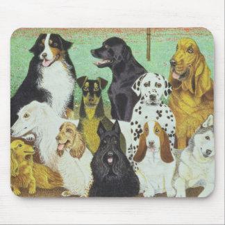 Montre de chien tapis de souris