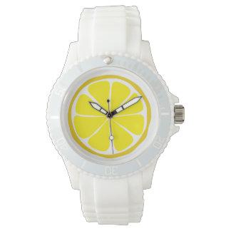Montre de citron d'agrume d'été montres bracelet