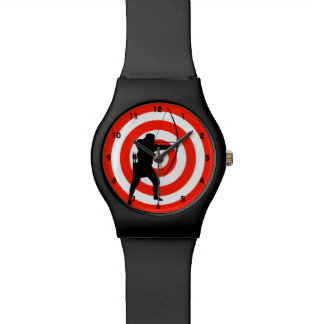 Montre de conception de tir à l arc montres bracelet