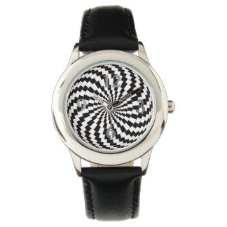 Montre de cuir de noir d'acier inoxydable montres cadran