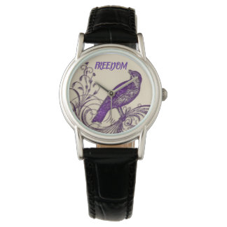 Montre de dames pourpre de FREEDOM/Bird