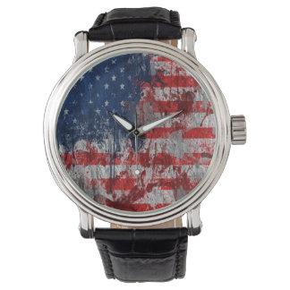Montre de drapeau des Etats-Unis