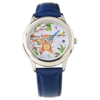 Montre de l'acier inoxydable de l'enfant de singe montres bracelet