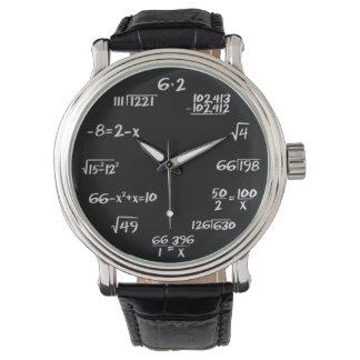 Montre de maths montres bracelet