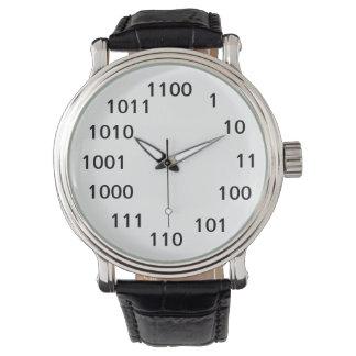 Montre de nombre binaire montres bracelet