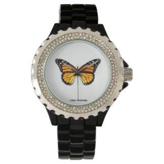 Montre de papillon de monarque