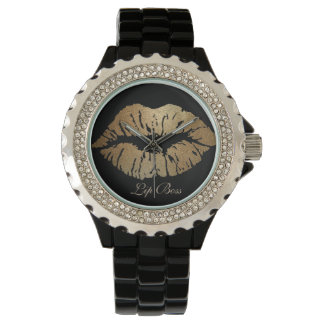 Montre de patron de lèvre montres bracelet
