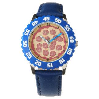 Montre de pizza avec des nombres