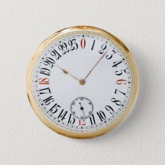 Montre de poche antique d'horloge badges