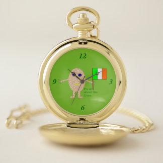Montre de poche irlandaise patriotique d'oeufs