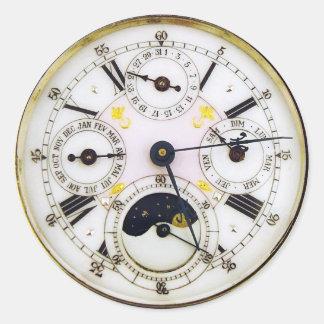 Montre de poche vintage d'antiquité d'horloge sticker rond