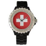 Montre de Suisse - le drapeau de la Suisse Montres Cadran