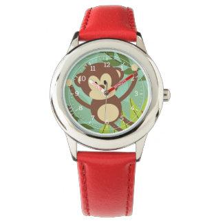 Montre d'enfants d'affaires de singe montres bracelet