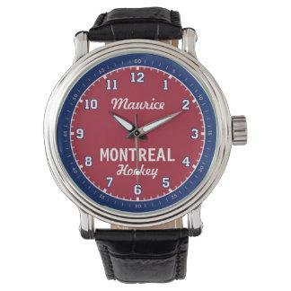 Montre d'heure de demi-heure d'hockey de Montréal