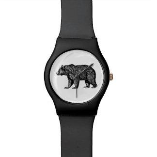 Montre d'ours gris montres cadran