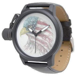 Montre Drapeau américain chauve d'Eagle