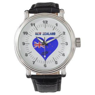 Montre Drapeau de coeur de la Nouvelle Zélande