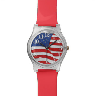 Montre Drapeau patriotique des USA de vieille gloire,