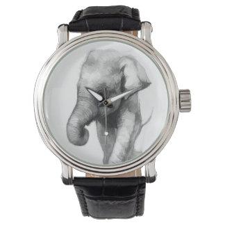 Montre éléphant-bébé
