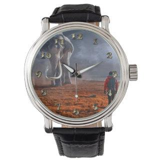 Montre Éléphant et homme d'imaginaire