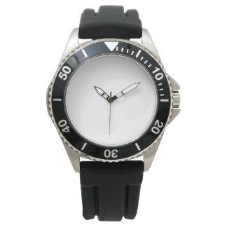 Montre en caoutchouc de courroie de noir de montres
