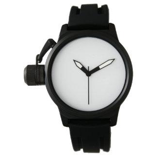 Montre en caoutchouc de courroie de noir de montres bracelet