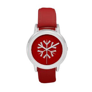 Montre/flocon de neige d'enfants de vacances montres cadran