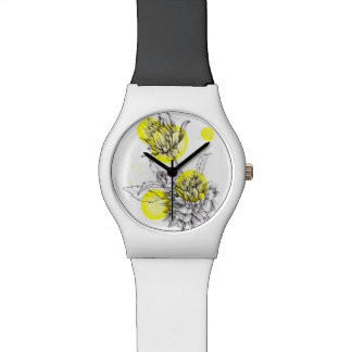 montre florale d'illustration