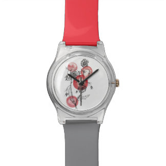 montre florale Geums d'illustration